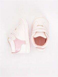 Diğer malzeme (poliüretan) Ayakkabı Kız Bebek Deri Görünümlü Baskılı Spor Ayakkabı