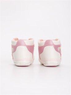 Kız Bebek Deri Görünümlü Baskılı Spor Ayakkabı