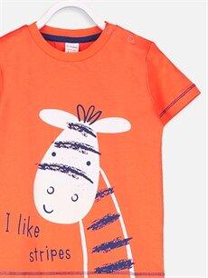 Erkek Bebek Erkek Bebek Pamuklu Baskılı Tişört
