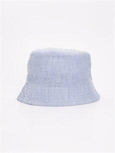 Mavi Erkek Bebek Çizgili Dokuma Şapka 9S6047Z1 LC Waikiki