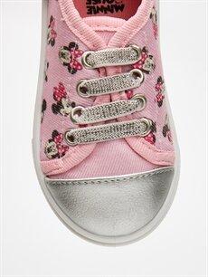 LC Waikiki Pembe Kız Bebek Minnie Mouse Baskılı Ayakkabı
