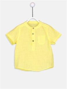 Sarı Erkek Bebek Poplin Gömlek 9S6886Z1 LC Waikiki