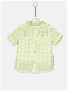 Yeşil Erkek Bebek Ekoseli Poplin Gömlek 9S6889Z1 LC Waikiki