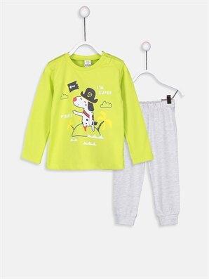 Erkek Bebek Pamuklu Tişört Ve Pantolon 2'li - LC WAIKIKI