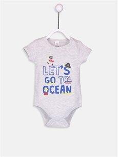 Erkek Bebek Erkek Bebek Pamuklu Desenli Çıtçıtlı Body 2'li