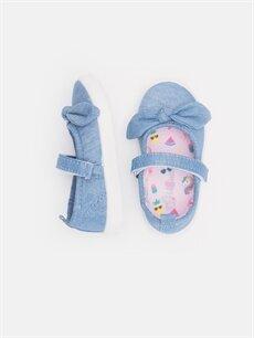 %0 Tekstil malzemeleri (%100 poliester)  Kız Bebek Fiyonklu Ayakkabı