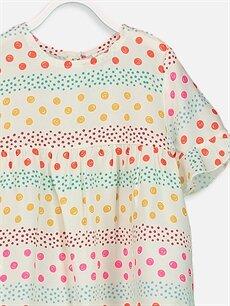 Kız Bebek Desenli Viskoz Bluz