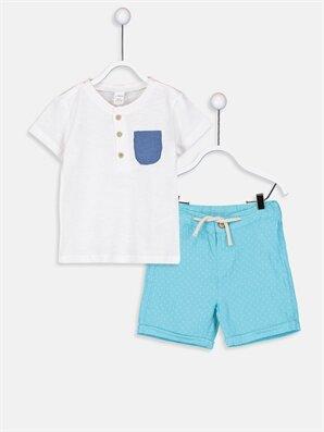 Erkek Bebek Pamuklu Tişört ve Şort 2'li - LC WAIKIKI