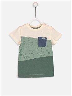 %100 Pamuk %100 Pamuk  Erkek Bebek Baskılı Tişört ve Bermuda Şort