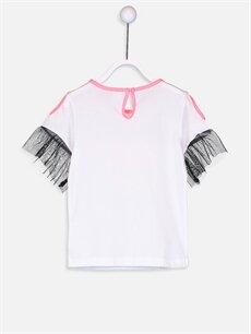%100 Pamuk Standart Tişört Baskılı Kısa Kol Bisiklet Yaka Kız Bebek Yazı Baskılı Pamuklu Tişört