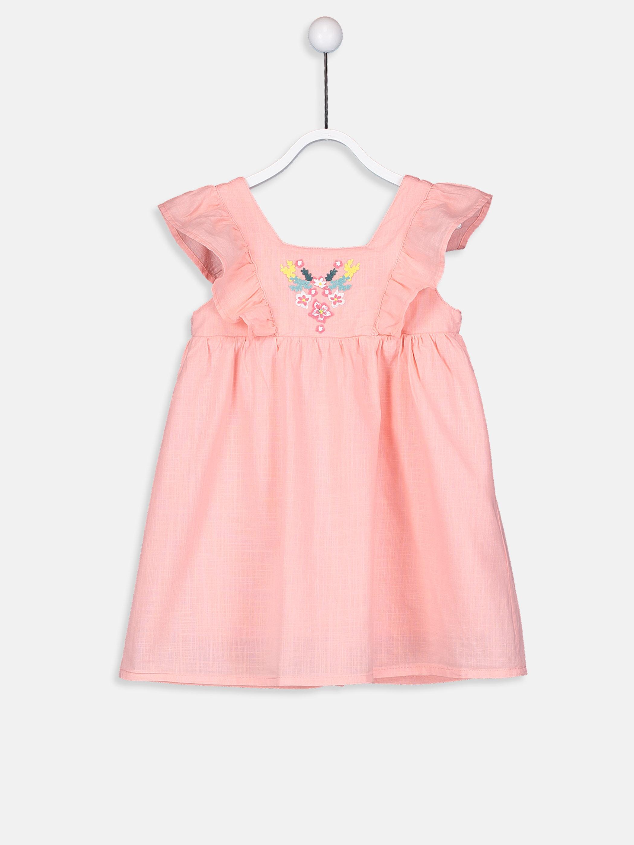 Kız Bebek Nakışlı Poplin Elbise -9S7927Z1-G73