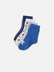 Çok Renkli Erkek Bebek Soket Çorap 4'lü 9S8878Z1 LC Waikiki