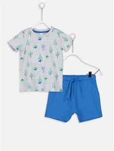 Yeşil Erkek Bebek Tişört Ve Şort 9S9136Z1 LC Waikiki