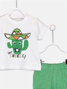 LC Waikiki Yeşil Erkek Bebek Takım 2'li