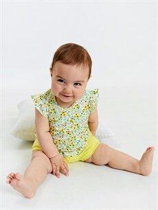 LC Waikiki Beyaz Kız Bebek Pamuklu Şort 2'li