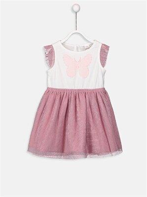 Kız Bebek Pamuklu Tül Etekli Elbise - LC WAIKIKI