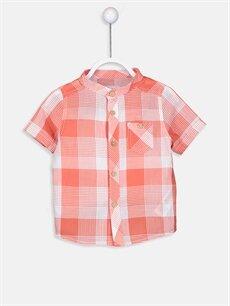 Turuncu Erkek Bebek Ekose Poplin Gömlek 9S9720Z1 LC Waikiki