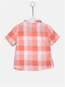 %100 Pamuk Standart Kısa Kol Ekoseli Erkek Bebek Ekose Poplin Gömlek