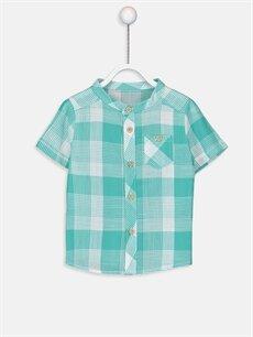 Yeşil Erkek Bebek Ekose Poplin Gömlek 9S9720Z1 LC Waikiki