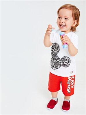 Erkek Bebek Mickey Mouse Baskılı Tişört Ve Şort - LC WAIKIKI