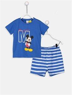 Mavi Erkek Bebek Mickey Mouse Baskılı Pijama Takımı 9S9951Z1 LC Waikiki
