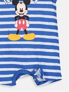 Erkek Bebek Erkek Bebek Mickey Mouse Baskılı Tulum