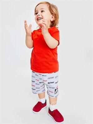 Erkek Bebek Mickey Mouse Baskılı Şort - LC WAIKIKI
