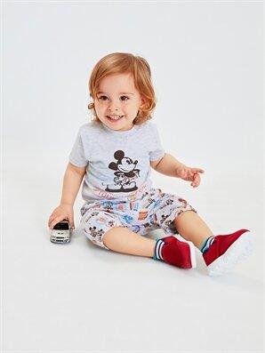 Erkek Bebek Mickey Mouse Baskılı Pijama Takımı - LC WAIKIKI