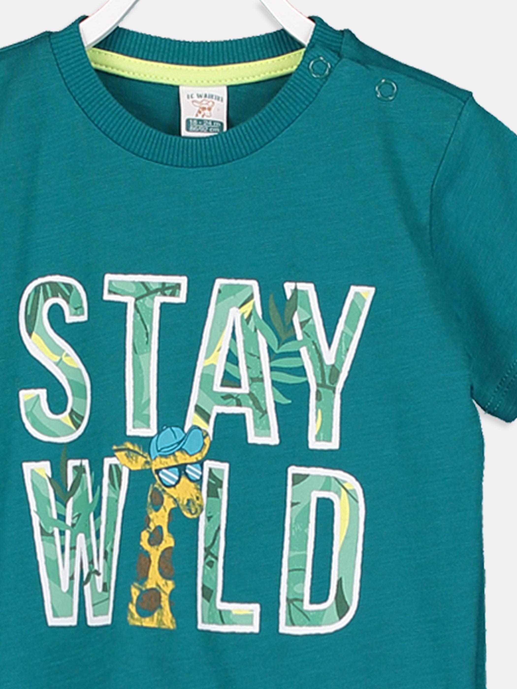 Erkek Bebek Baskılı Pamuklu Tişört -9SH294Z1-H3L