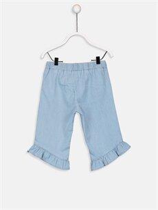%100 Pamuk Standart Kız Bebek Jean Pantolon