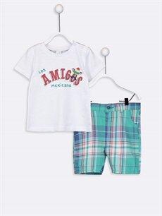 Beyaz Erkek Bebek Tişört Ve Şort 9SH630Z1 LC Waikiki