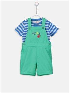 Mavi Erkek Bebek Tişört ve Salopet 9SH631Z1 LC Waikiki