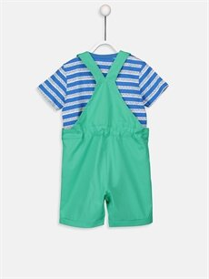 %100 Pamuk %100 Pamuk  Erkek Bebek Tişört ve Salopet