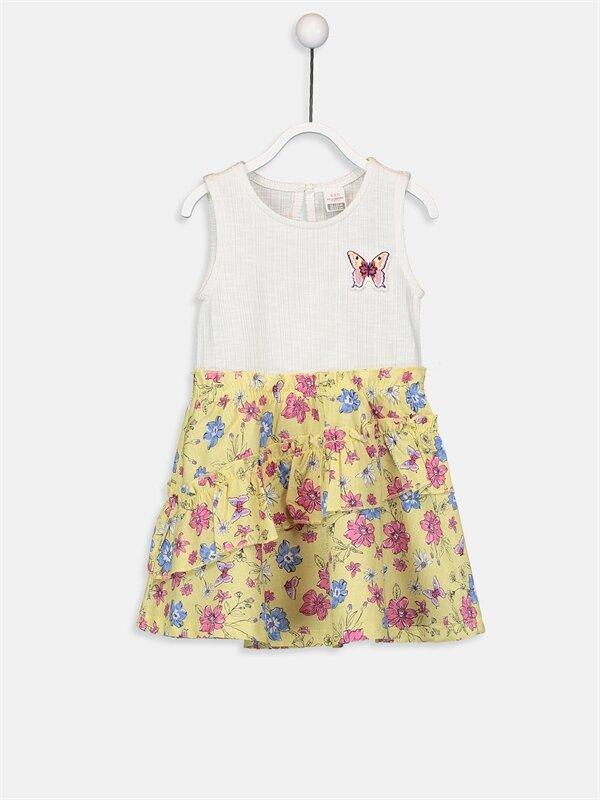 Kız Bebek Pamuklu Desenli Elbise - LC WAIKIKI