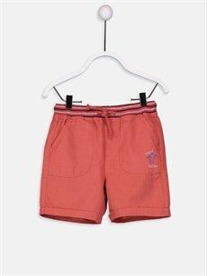 Kırmızı Erkek Bebek Poplin Şort 9SI103Z1 LC Waikiki