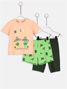 Mercan Erkek Bebek Pijama Takımı 3'lü 9SI319Z1 LC Waikiki