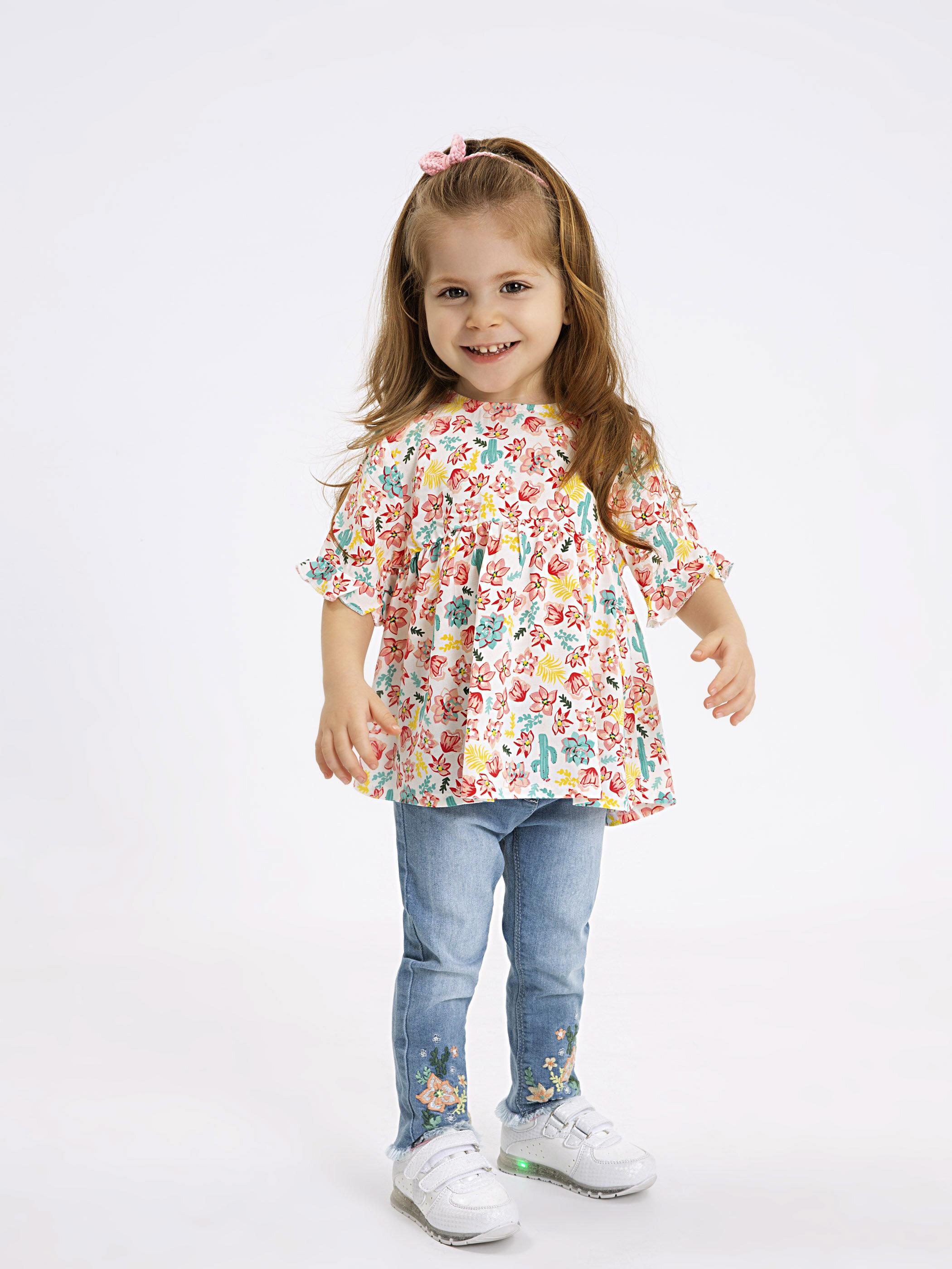 Kız Bebek Viskon Desenli Bluz -9SI574Z1-LRA