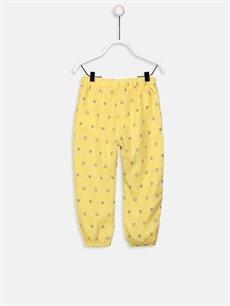 %100 Viskoz Normal Bel Standart Kız Bebek Desenli Viskoz Pantolon