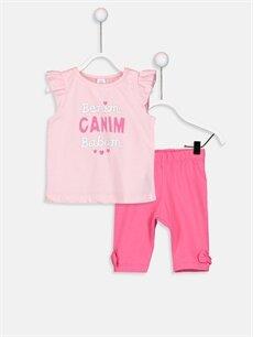 Pembe Kız Bebek Pijama Takımı 9SJ676Z1 LC Waikiki