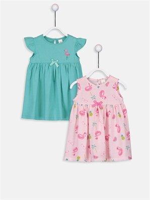 Kız Bebek Pamuklu Elbise 2'li - LC WAIKIKI