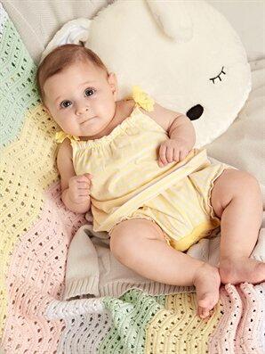 Kız Bebek Pamuklu Çizgili Tulum - LC WAIKIKI