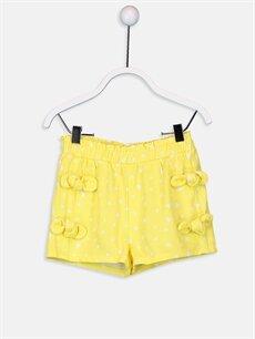 Sarı Kız Bebek Puantiyeli Şort 9SJ854Z1 LC Waikiki