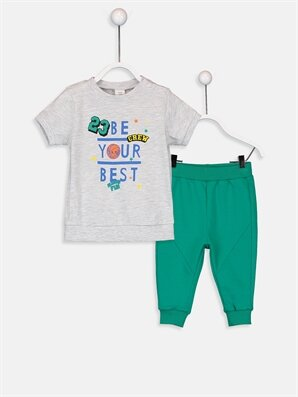 Erkek Bebek Tişört ve Pantolon - LC WAIKIKI