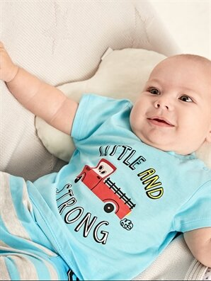 Erkek Bebek Baskılı Pamuklu Tişört 2'li - LC WAIKIKI