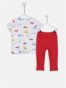 %100 Pamuk  Erkek Bebek Pijama Takımı