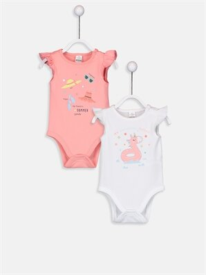 Kız Bebek Baskılı Çıtçıtlı Body  - LC WAIKIKI