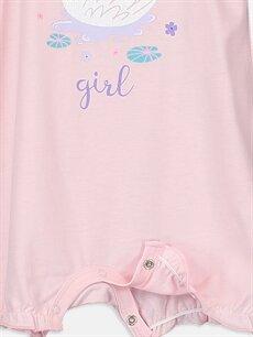 LC Waikiki Pembe Kız Bebek Desenli Pijama  2'li