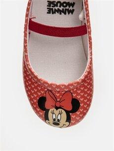 LC Waikiki Kırmızı Kız Bebek Minnie Mouse Baskılı Babet Ayakkabı