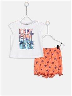 Beyaz Kız Bebek Pijama Takımı 9SO753Z1 LC Waikiki