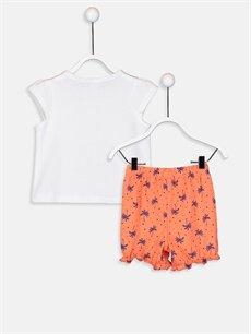 %100 Pamuk Standart Pijamalar Kız Bebek Pijama Takımı